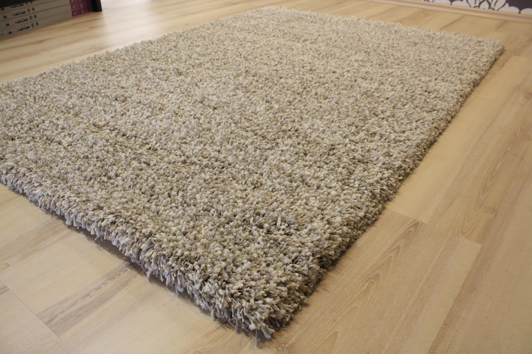 High Pile Carpet Rug High Pile 39001 Twilight 2211 White Linen 200x200cm Ebay
