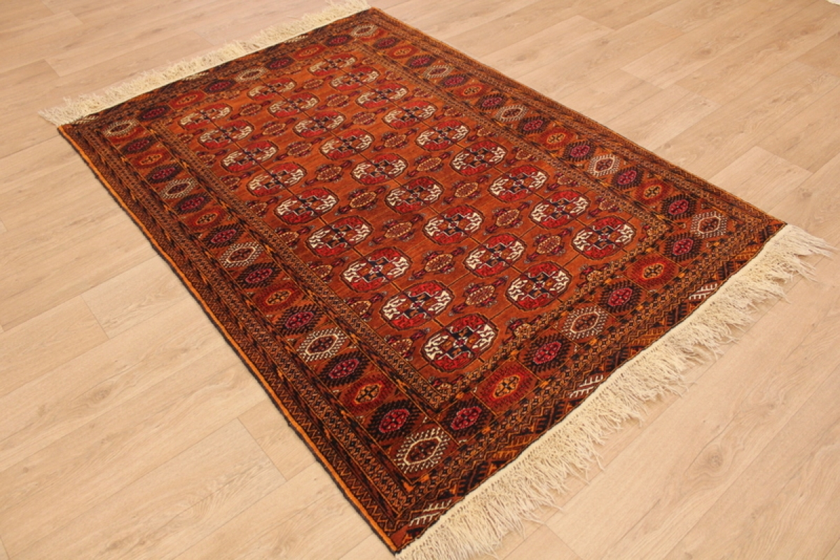 Turkmenische Teppiche Orientteppich Quottekke Turkmen Quot 190x139 Cm Orange