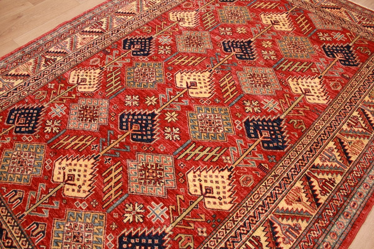 Kazak Teppiche Oriental Carpet Kazak Virgin Wool 220x170 Cm Red