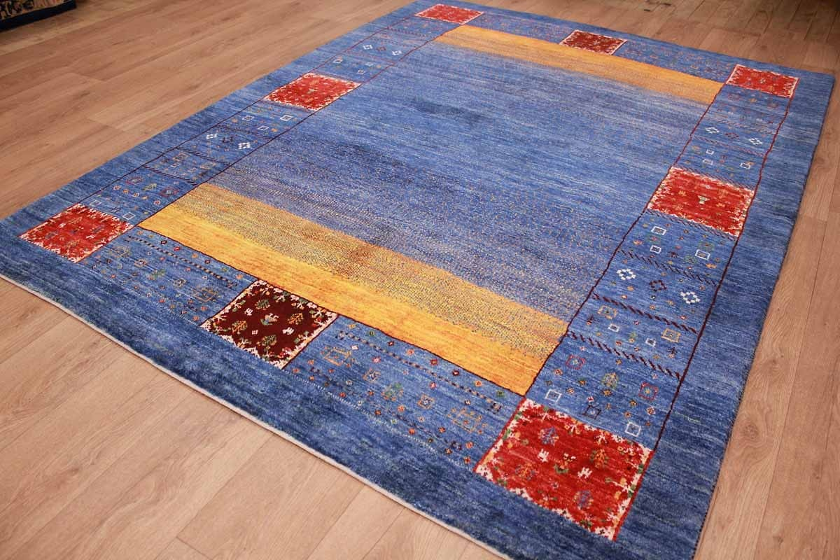 Teppich Gabbeh Günstig Persian Carpet Gabbeh Wool Carpet 238x181 Cm Blue