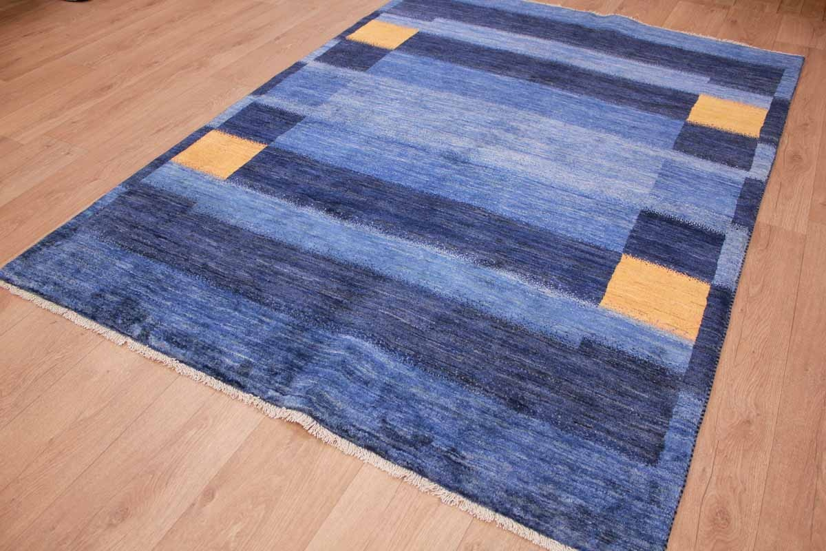 Teppich Gabbeh Günstig Persian Carpet Gabbeh Wool Carpet 206x150 Cm Blue
