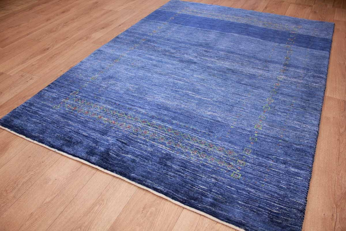 Teppich Gabbeh Günstig Persian Carpet Gabbeh Wool Carpet 199x147 Cm Blue