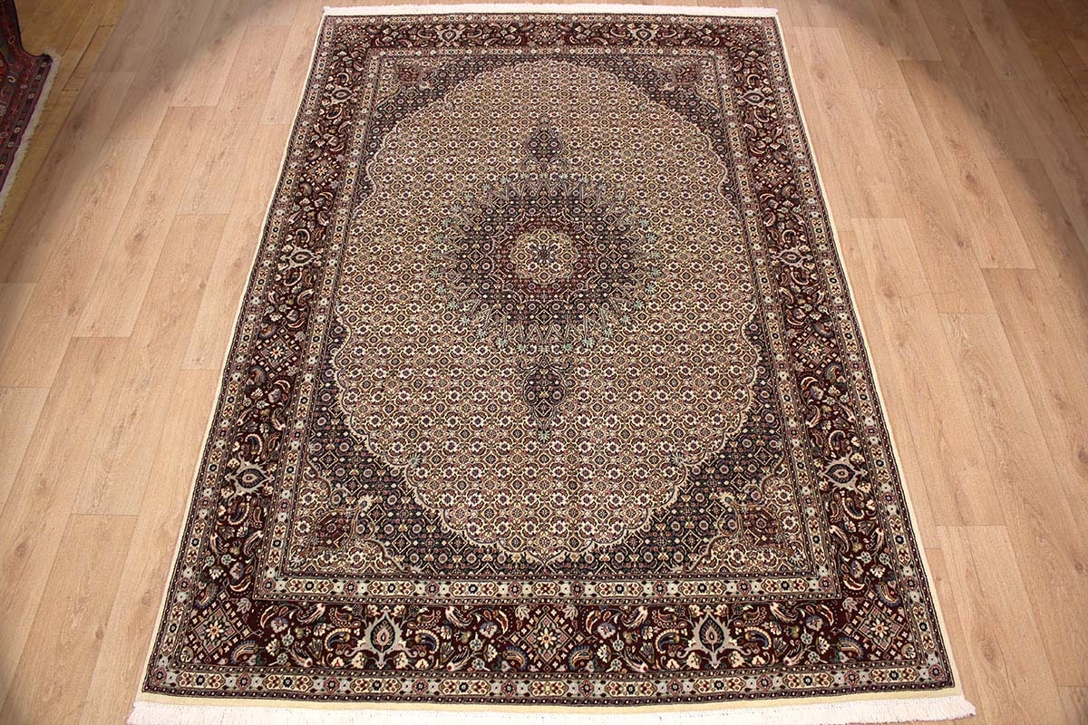 Teppich 300x200 Persian Carpet Moud With Silk 300x200 Cm Beige