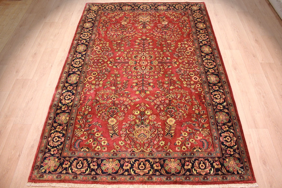 Orient Teppich Oriental Carpet Sarough Virgin Wool 293x198 Cm Red