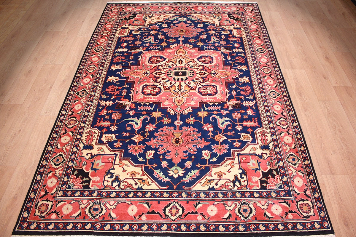 Teppich 300x200 Persian Carpet Heriz Virgin Wool 300x200 Cm Blue