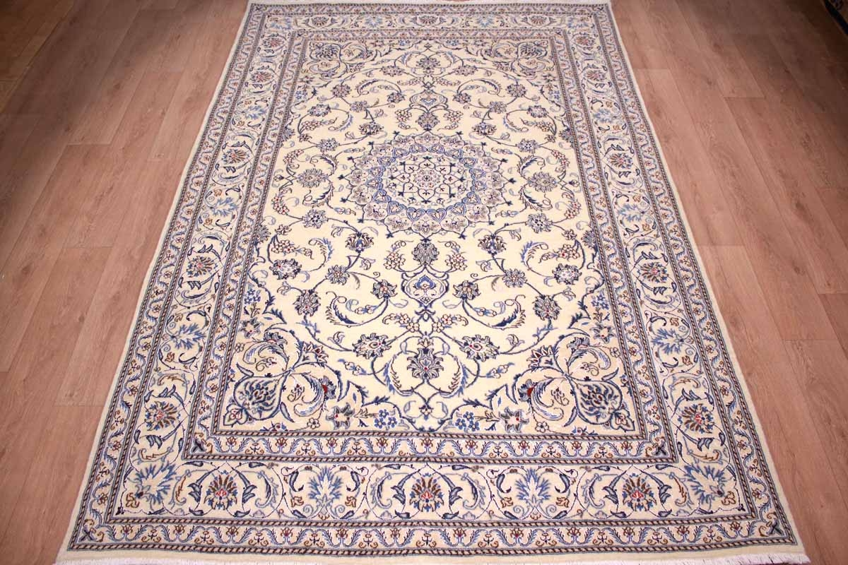 Teppich 300x200 Persian Carpet Nain Virgin Wool And Silk 300x200 Cm Beige