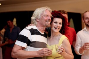 CleoRocos with Richard Branson enjoying the worlds best tequila AquaRiva copy