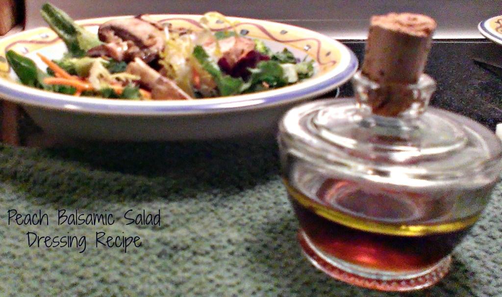 peach balsamic salad dressing recipe