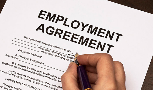 Service for agreement of employment in Singapore
