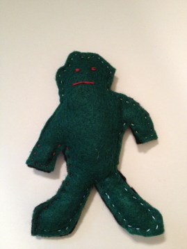 This is Fret. He is an anxiety doll I completed while hanging out with ALWA.