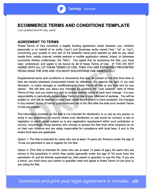 Terms \ Conditions Templates \ Samples Download For FREE Termly - sample terms and conditions template