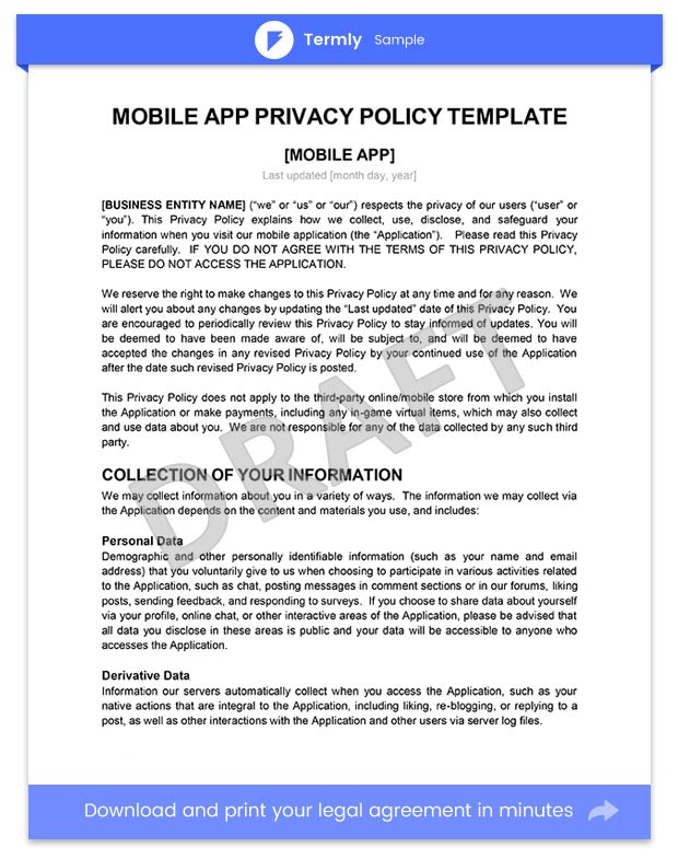 Website Privacy Policy Template Legal123comau - mandegarinfo