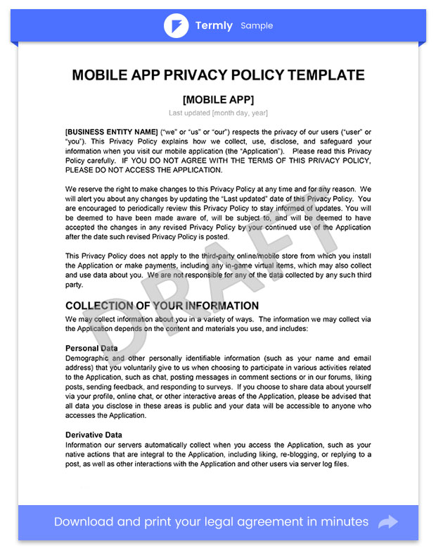 Cool App Privacy Policy Template Gallery  Example Resume And