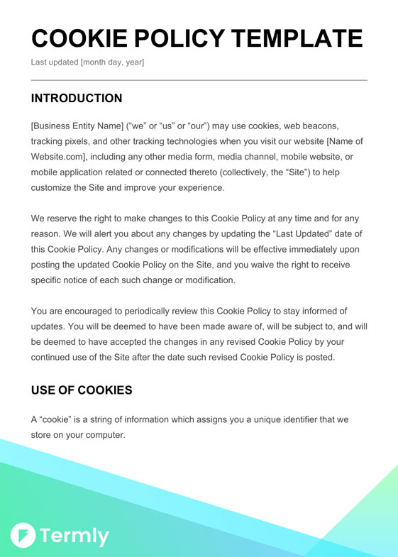 Free Sample Cookie Policy Template  Writing Guide Termly