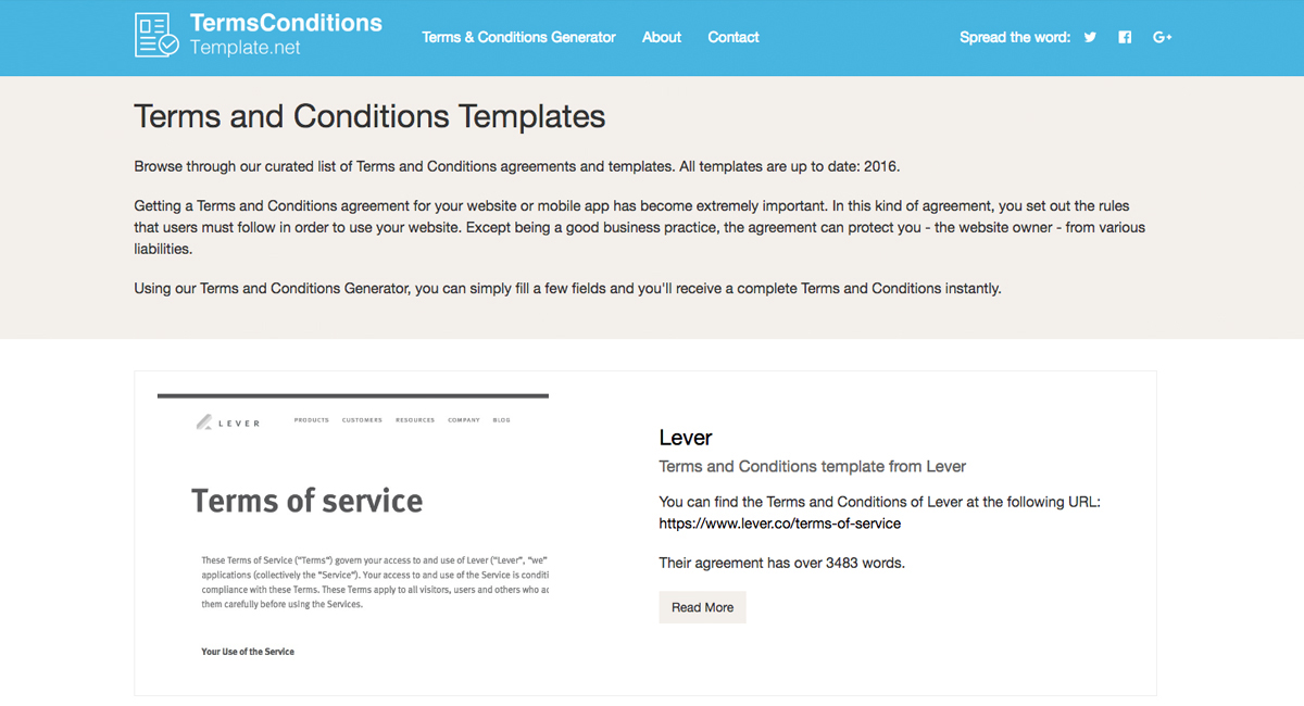 Terms and Conditions Template + Generator - Free - 2017 - sample terms and conditions template