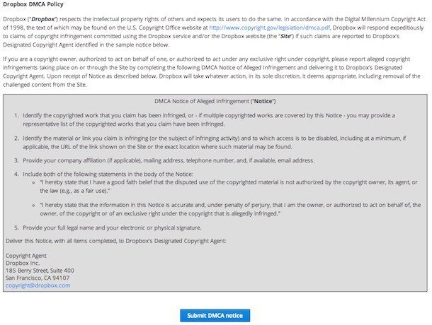 DMCA clause in Terms and Conditions - TermsFeed
