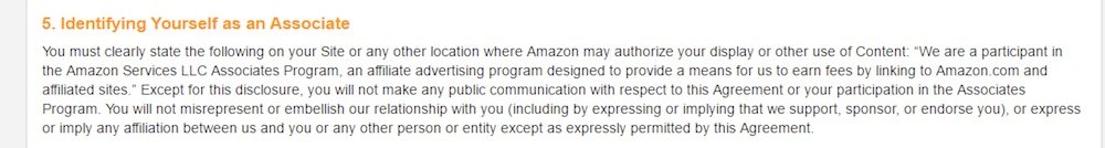 Disclaimer for Amazon Associates - TermsFeed