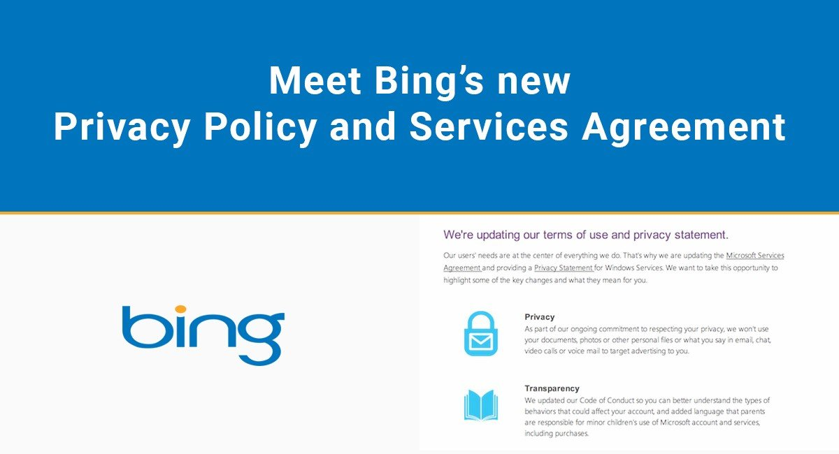 Meet Bing\u0027s new Privacy Policy and Services Agreement - TermsFeed - privacy statement