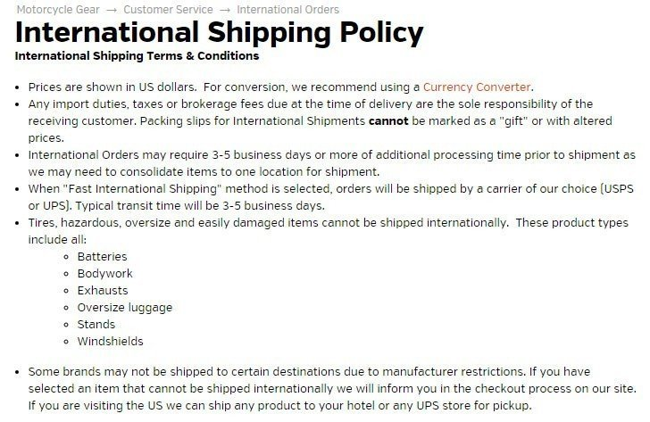 Sample Shipping Policy Template - TermsFeed - shipping information template