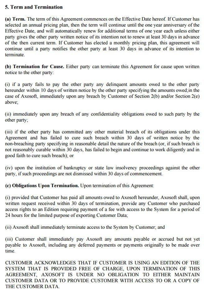 SaaS Agreement - TermsFeed