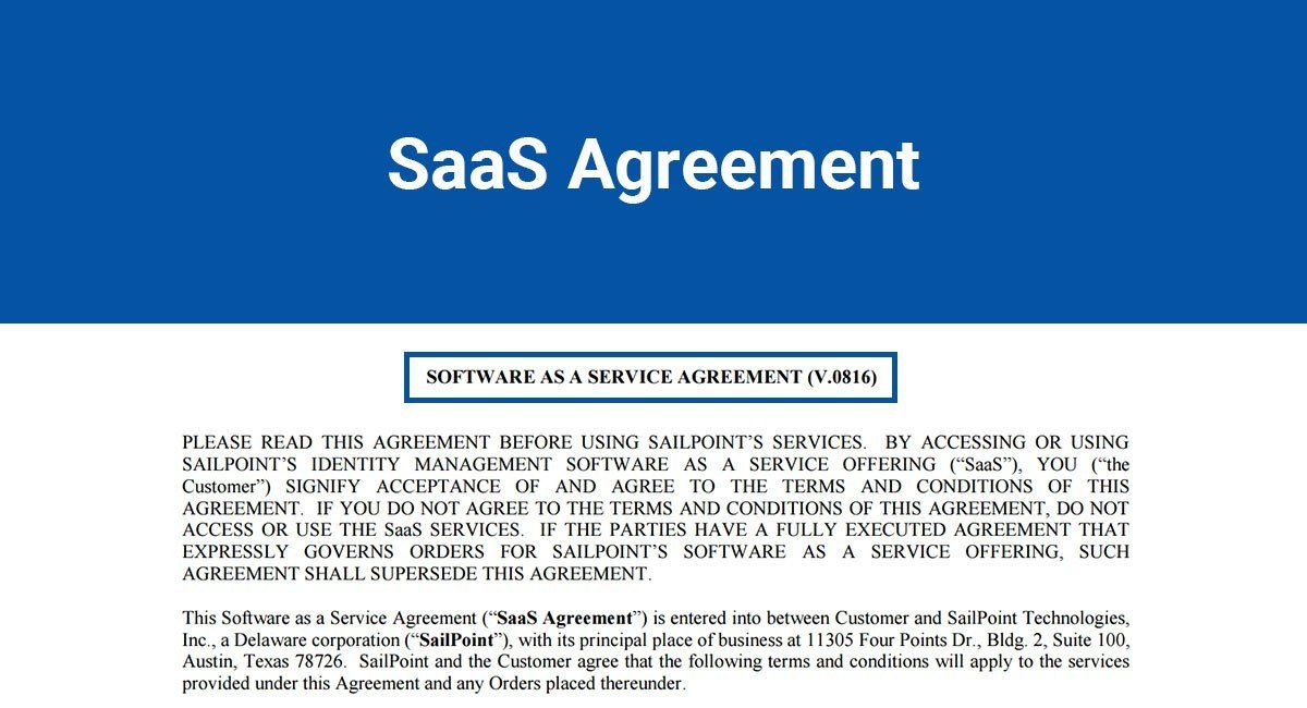SaaS Agreement - TermsFeed - business service agreement
