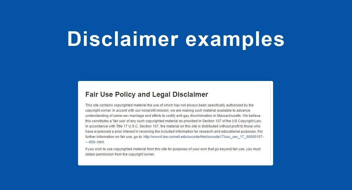 Disclaimer Examples - TermsFeed - product liability disclaimer template