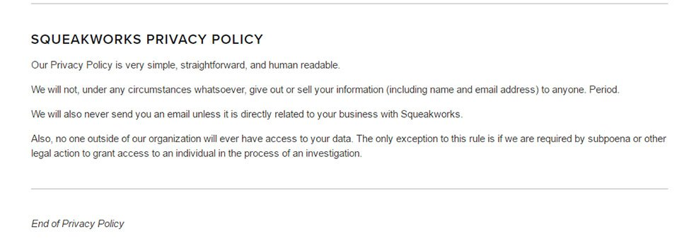 Privacy Policy for Squarespace - TermsFeed