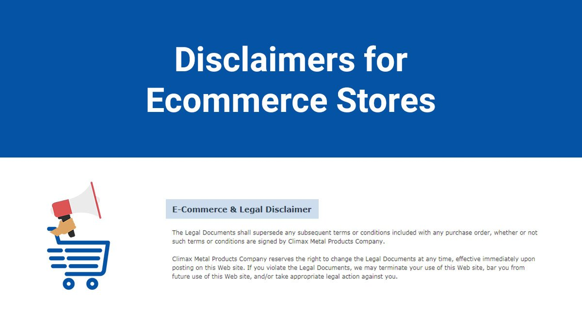 Disclaimers for Ecommerce Stores - TermsFeed
