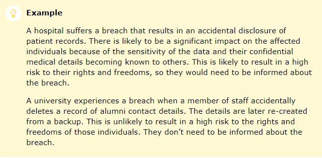 GDPR Data Breach Notice Letter - TermsFeed