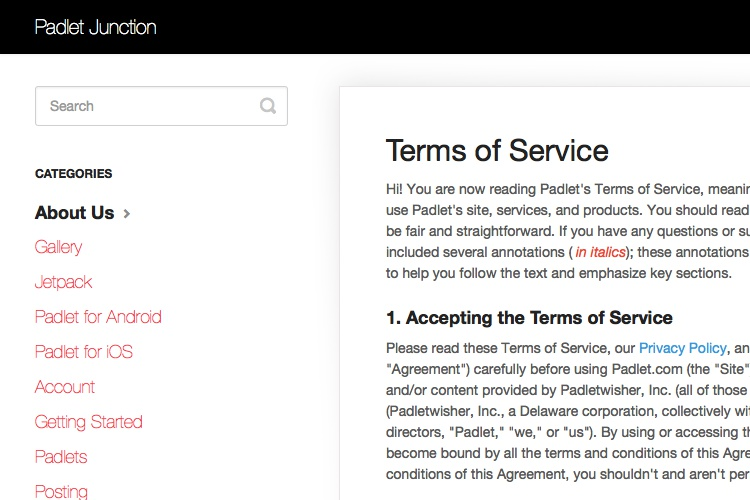 2018 - Terms of Service Template/Generator - Free - Up-to-date