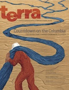Cover of Fall Terra - Illustration of man reading book and riding fish