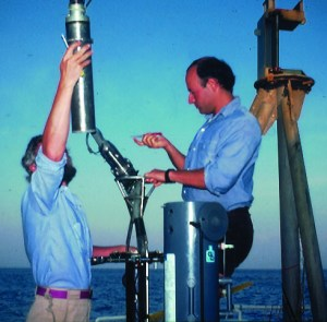 Picture from the past:  As a graduate student, Rick Spinrad, right, conducted research on OSU's research vessel Wecoma off the coast of Peru. (Photo courtesy of Rick Spinrad)
