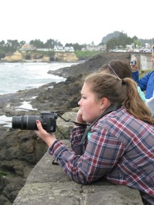 Whale watching at Depot Bay on the Oregon coast is just one more learning opportunity for Katlyn Taylor. She has traveled to an elephant sanctuary in Nepal and studied marine mammal protection in Mexico. (Photo courtesy of Katlyn Taylor)