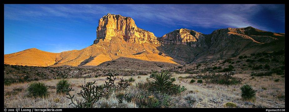 Panoramic Wallpaper Fall Panoramic Picture Photo El Capitan Rising Above Desert
