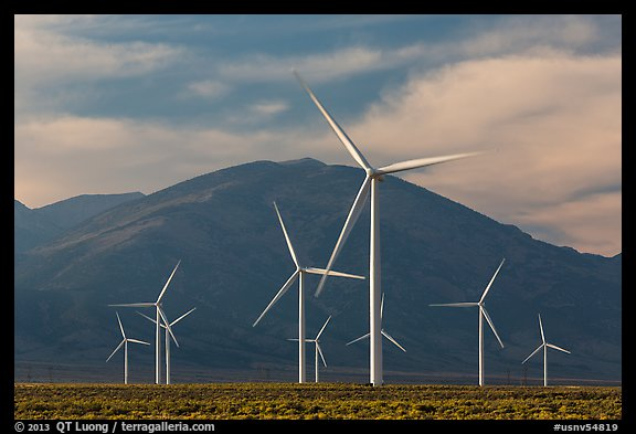 Fine Art Prints Picture/photo: Electricity-generating Windmills. Nevada, Usa