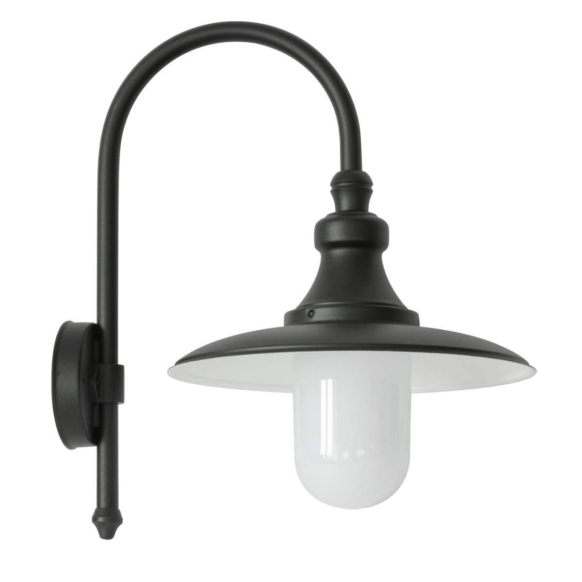 Aussen Wandlampe Outdoor Wall Light In Baroque Style With Bow Arm Terra Lumi