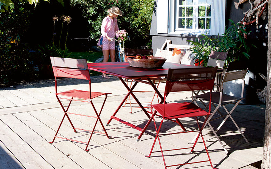 Table Pliante Inox Tables De Jardin Et Terrasse Design - Terrasse Et
