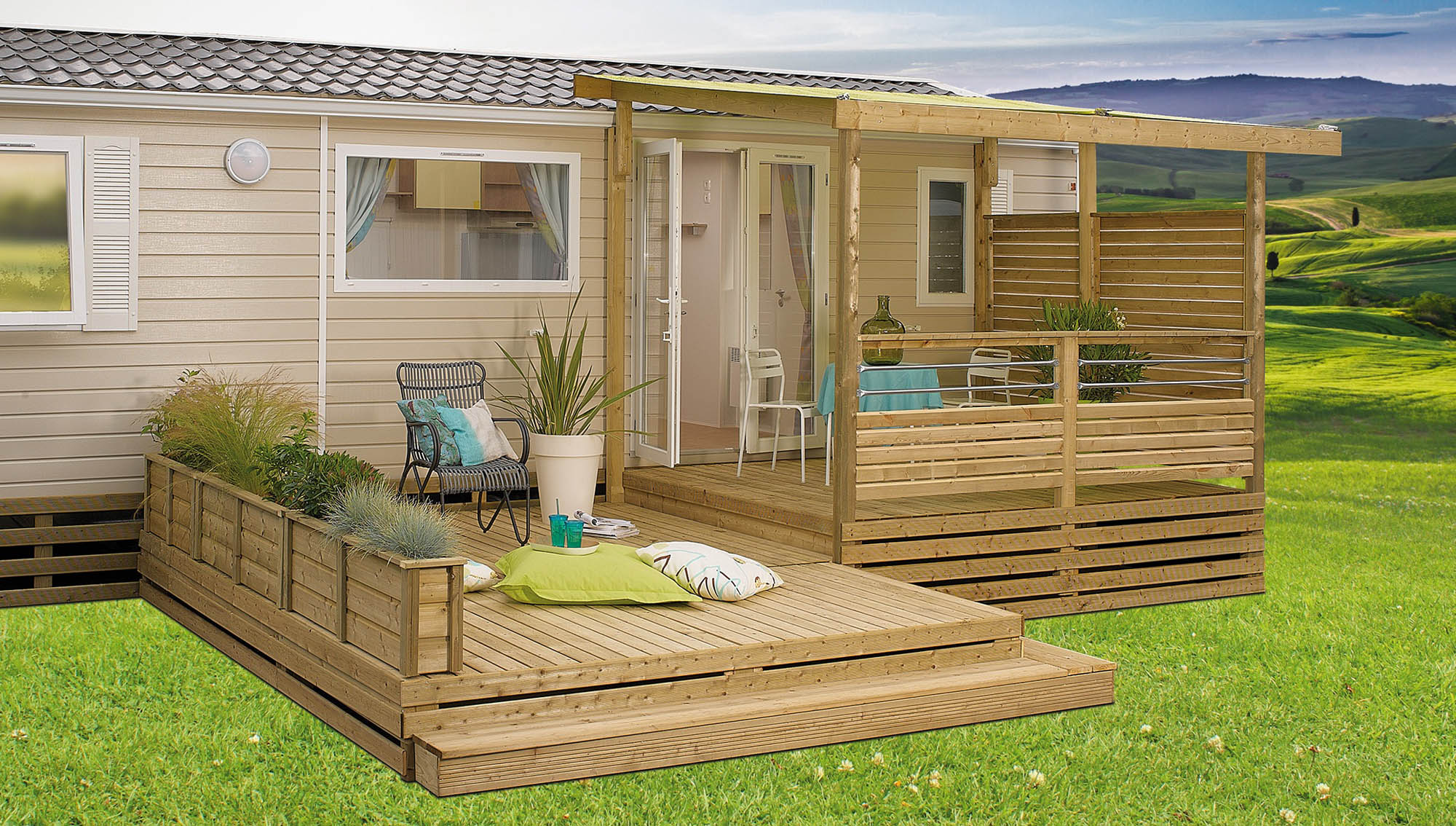 Terrasse Clairval Terrasse Pour Mobil Home Semi Couverte All Inclusive 3399 Lattes