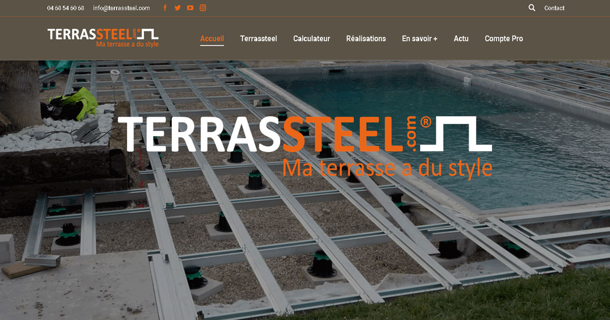 Terrasse Composite Youtube Terrasse En Kit, Terrasses Bois Structure / Ossature