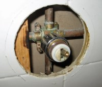 Twisted off old Delta 600 shower valve. | Terry Love ...