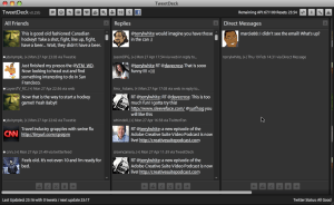 TweetDeck window - Click to enlarge