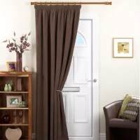 Buy Chenille Spot Single Panel Thermal Coated Door Curtain ...