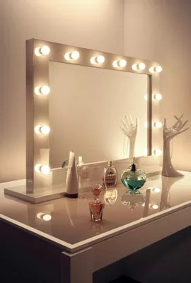 Spiegel Kaufen Ikea Buy High Gloss White Hollywood Makeup Mirror With Warm
