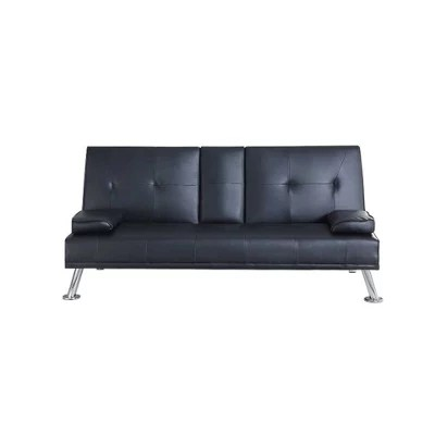 Buy Comfy Living Faux Leather Sofa Bed With Bluetooth - Bluetooth Couch