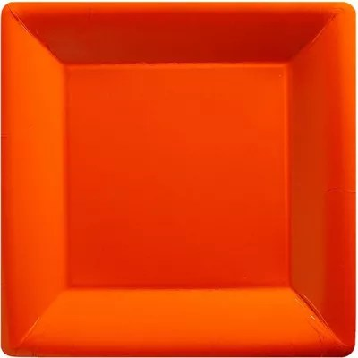 Amazing Buy Orange Square Plates 26cm Paper Party Plates From ...