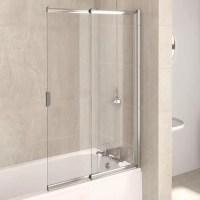 Buy Aqualux AQUA4 2-Panel Sliding Bath Screen, 820mm Wide ...