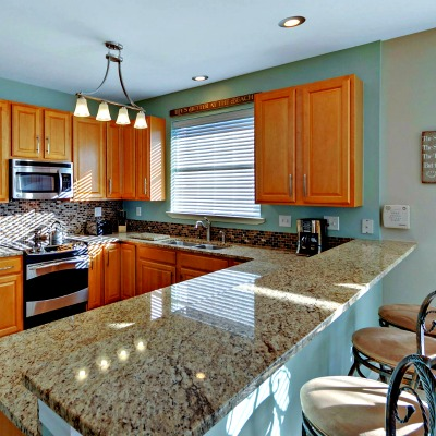 Crystal Beach Destin rental home kitchen