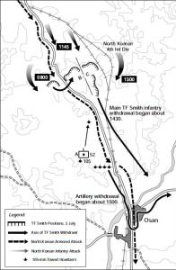 Battle of Osan Map