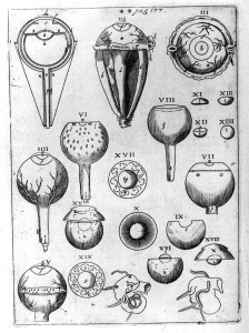 Illustrasjon om øyets struktur fra Keplers Astronomiae Pars Optica (Den optiske delen av astronomi). Kilde: Wikipedia.