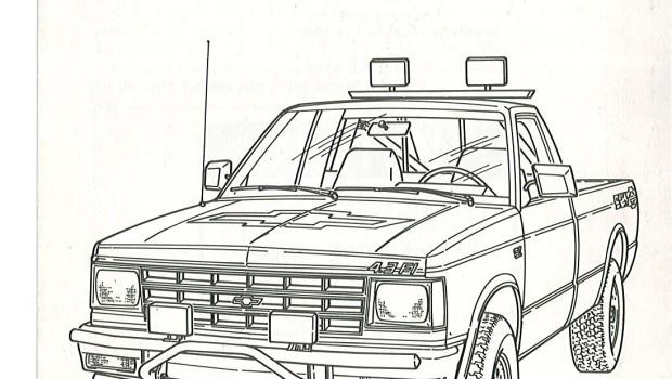 1988s 10 truck ledningsdiagram